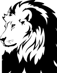 Fototapete - Lion head in vector interpretation 20