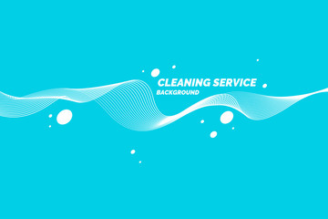 Conceptual poster for cleaning service on a blue background.