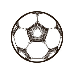 Soccer ball isolated. Coloring book