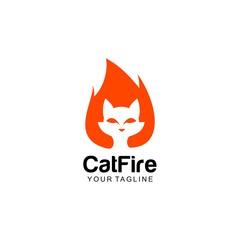 Cat fire logo