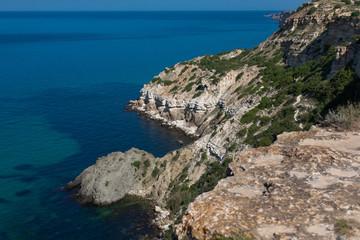 Rocky coast of Fiolent cape, Black Sea