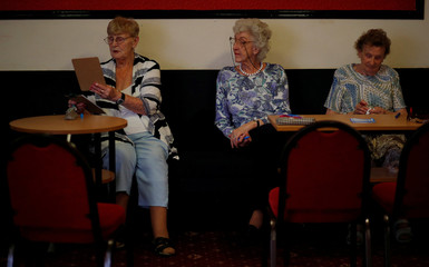Women play Bingo inside the Kellingley Social Club in Knottingley