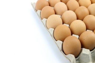 Eggs on the tray
