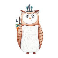 Boho watercolor animals