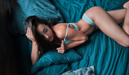 Photo sur Plexiglas Ane Sexy woman in lingerie at home