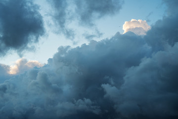 dramatic sky background with clouds