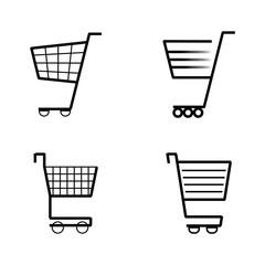 Cart icon black lines