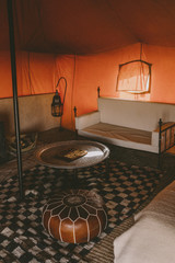 Traditional tent interior
