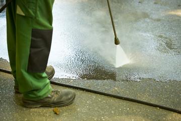 Obraz mycie parku woda pod ciśnieniem - fototapety do salonu