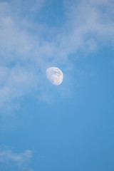 Moon covered with clouds at Daylight (Prokosovici, Bosnia)