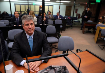 Former Argentine Vice President Amado Boudou attends the sentence hearing on his trial for corruption charges in Buenos Aires