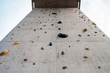 high climbing wall