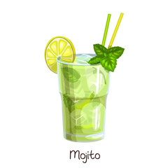 glass mojito cocktail