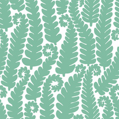 Graphic background of fern branches.