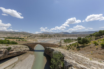 Historical Cendere Bridge in Adiyaman Province