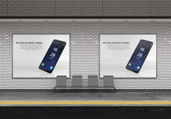 Subway Billboard Mockup