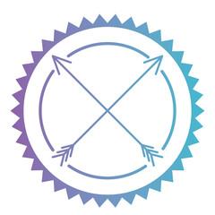circular frame with arrows vector illustration design