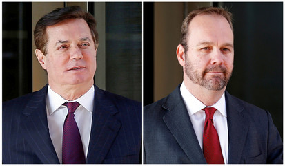 Paul Manafort and Rick Gates are pictured in this combination photograph
