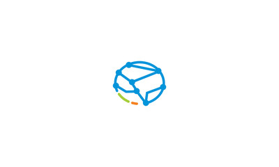 brain health technology logo vector icon