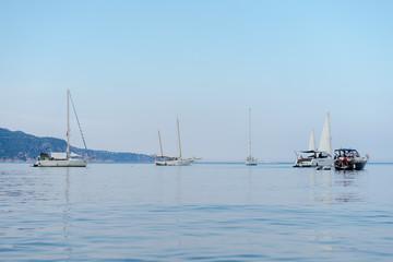Yachts on calm sea