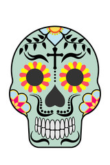 Mexican sugar skull style Day of the death celebration