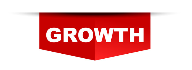 red vector banner growth