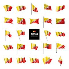 Bhutan flag, vector illustration