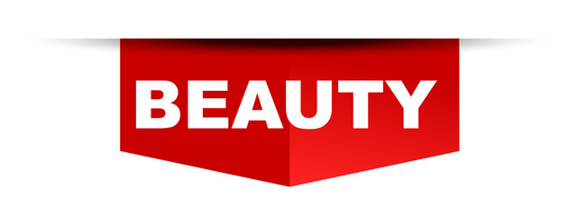 red vector banner beauty