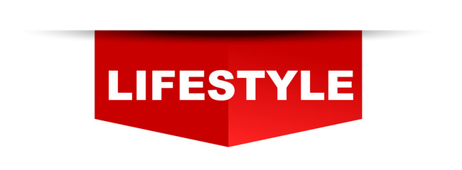 red vector banner lifestyle