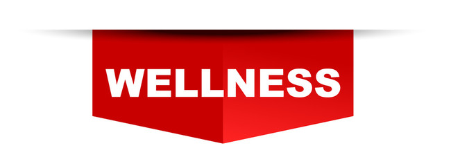 red vector banner wellness