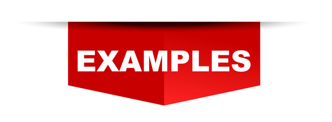 red vector banner examples