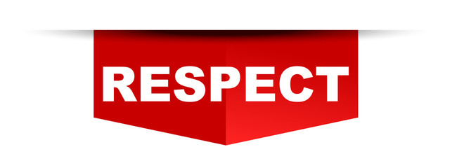 red vector banner respect