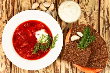 Russische Suppe Borschtsch
