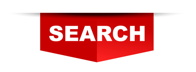 red vector banner search