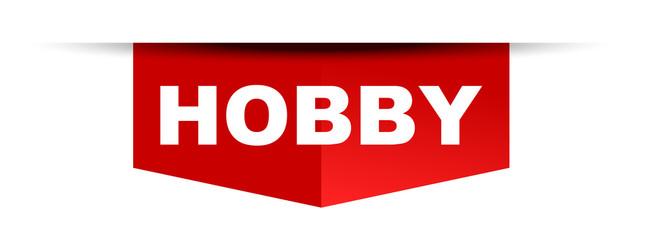 red vector banner hobby