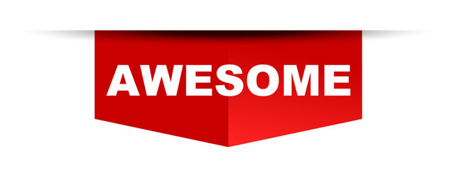 red vector banner awesome