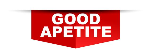 red vector banner good apetite