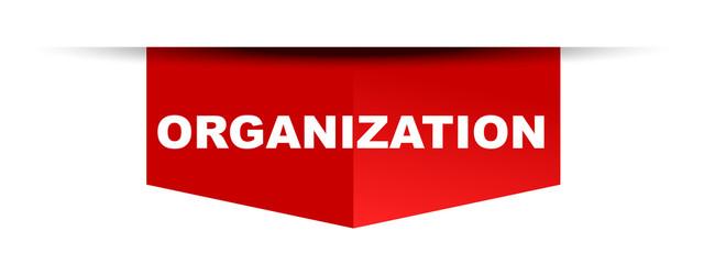 red vector banner organization
