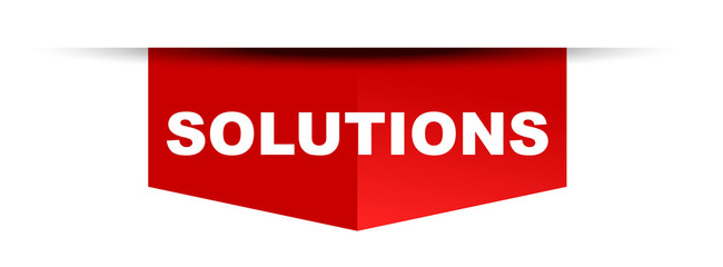 red vector banner solutions