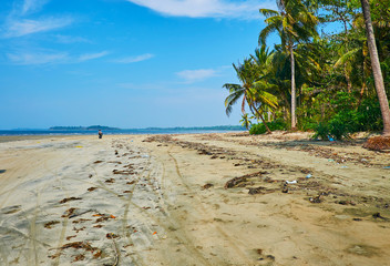 Low tide on the Ngwesaung beach, Myanmar