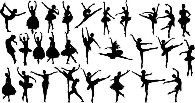バレエのシルエット