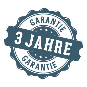 3 Jahre Garantie Vektor Siegel/Stempel