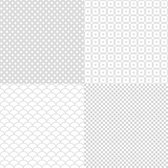 Set of abstract seamless gray square background for your design, stock vector illustration