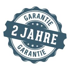 2 Jahre Garantie Vektor Siegel/Stempel