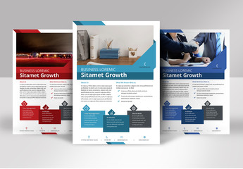 Flyer Layout with Geometric Elements
