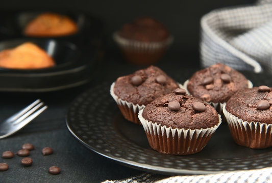 Mini chocolate chip muffins..Easy Basic muffin homemade.
