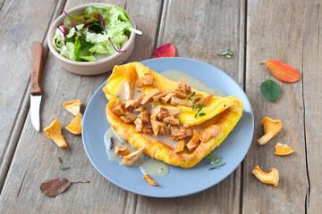 Pfifferling-Omelette