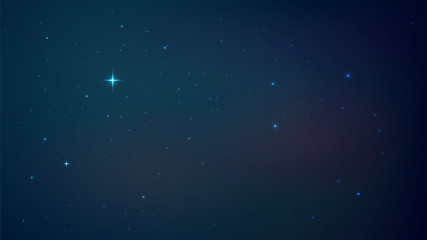 Vector background with night starry sky, space