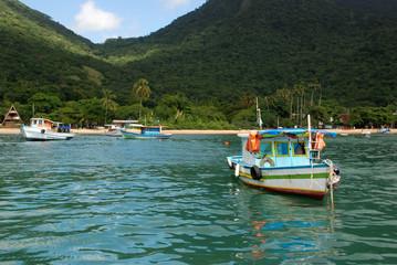 Boats on Ilha Grande bay