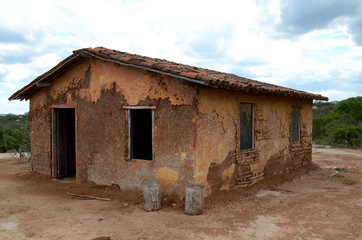 A very poor house in brazilian northeast